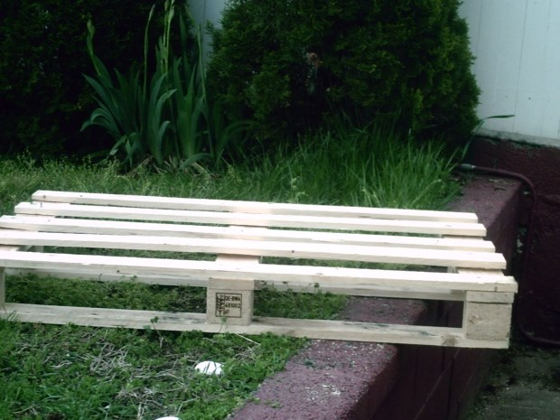 making garden bench