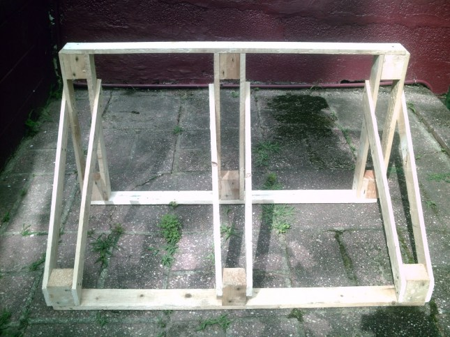 how to build a tire rack out of wood