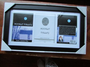 They presented me with the framed covers of Moonlit Valley.  Is that awesome or what?