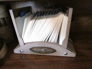 Heavy metal Rolodex, 7 position industrial hole puncher, industrial stapler (takes three sizes)