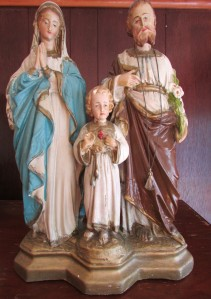 Antique sculpture of the Holy Family