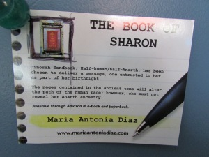 Post card (front) - The Book of Sharon