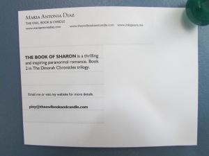 Postcard - The Book of Sharon (Back side)